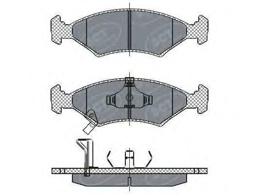Колодки тормозные SCT SP266PR