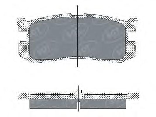 Колодки тормозные ProfiLine SCT SP 283 PR