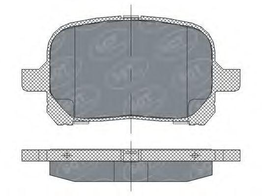 Колодки тормозные SCT SP274PR