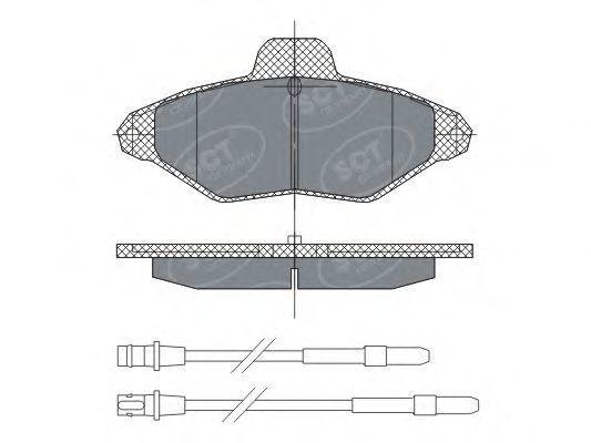 Колодки тормозные SCT SP 293 PR