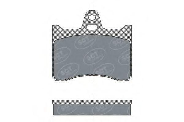 Колодки тормозные SCT SP297PR