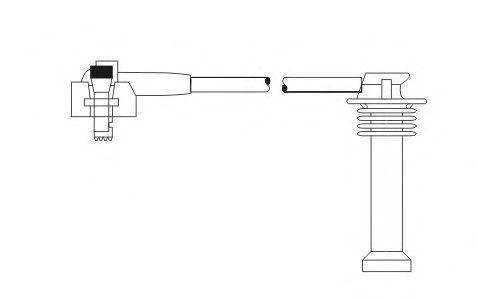 Провода высоковольтные комплект SCT PS 6719