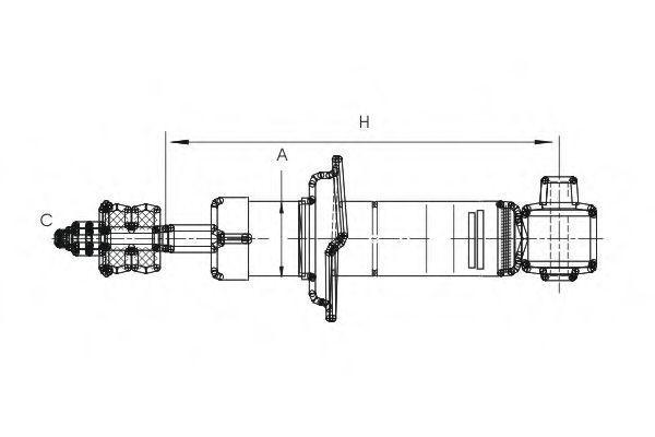 Амортизатор подвески SCT Z 1596