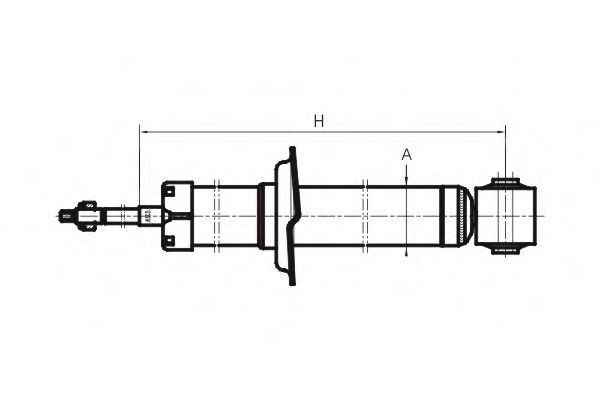 Амортизатор подвески SCT Z1651
