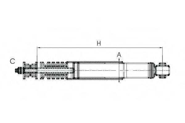 Амортизатор подвески SCT Z1730