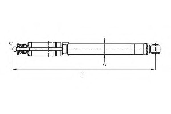 Амортизатор подвески SCT Z1829