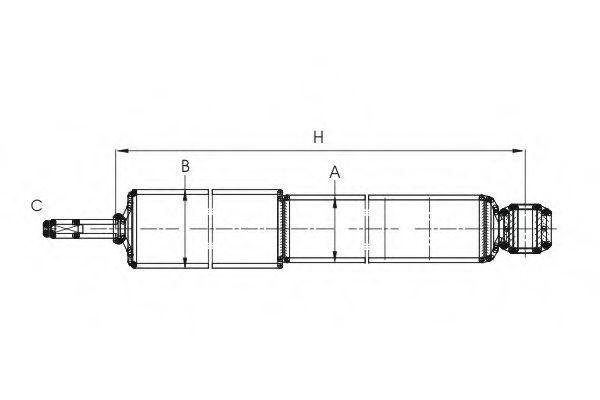 Амортизатор подвески SCT Z2976