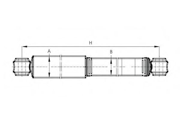 Амортизатор подвески SCT Z2977G