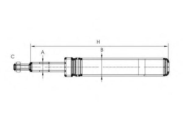 Амортизатор подвески SCT Z8542