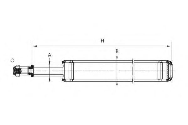 Амортизатор подвески SCT Z8600