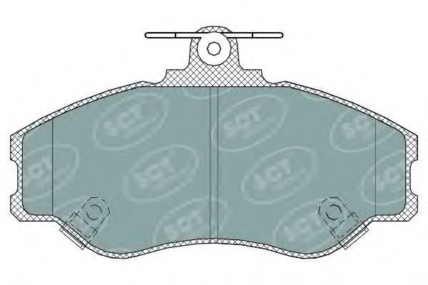 Колодки тормозные SCT SP323PR