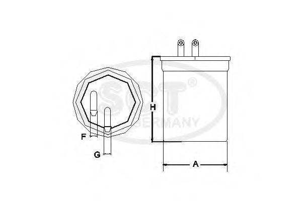 Фильтр топливный SCT ST6088