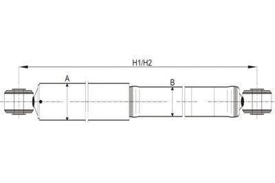 Амортизатор подвески SCT Z1215