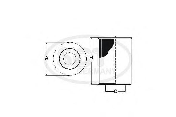 Фильтр масляный SCT SH 4041 L