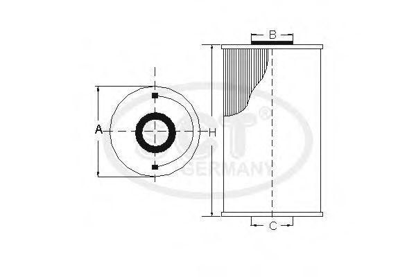 Фильтр масляный SCT SH 407