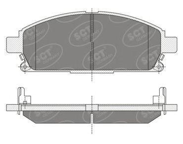 Колодки тормозные SCT SP 338 PR
