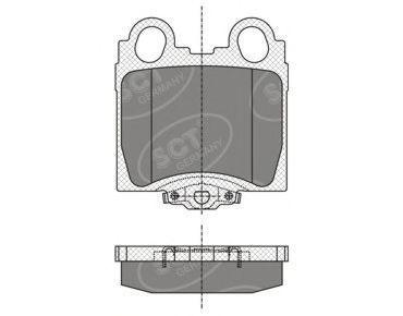 Колодки тормозные SCT SP345PR