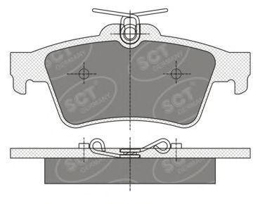 Колодки тормозные SCT SP357PR