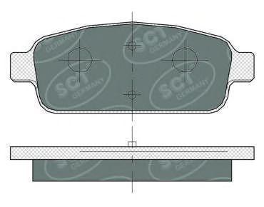 Колодки тормозные SCT SP360PR