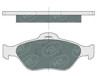 Колодки тормозные SCT SP363PR