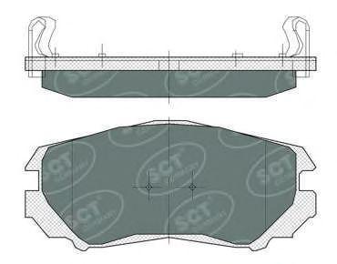 Колодки тормозные SCT SP370PR