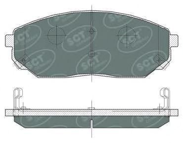 Колодки тормозные SCT SP371PR