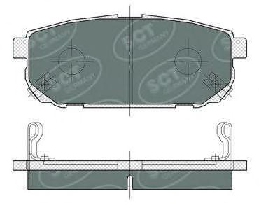 Колодки тормозные SCT SP372PR