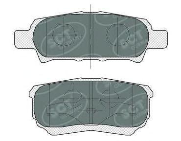 Колодки тормозные SCT SP373PR