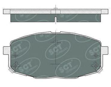 Колодки тормозные SCT SP374PR