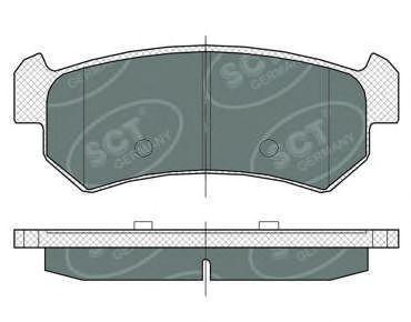 Колодки тормозные SCT SP376PR