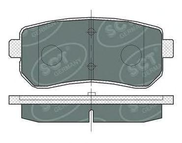 Колодки тормозные SCT SP380PR