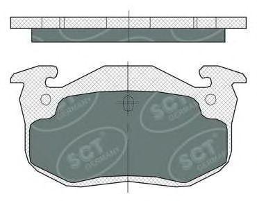 Колодки тормозные SCT SP385PR