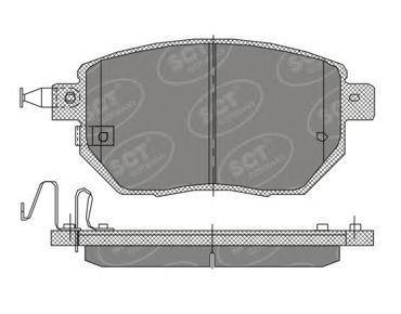 Колодки тормозные SCT SP392PR