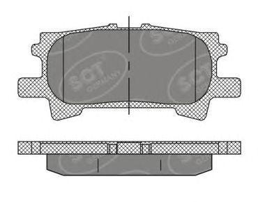 Колодки тормозные SCT SP394PR