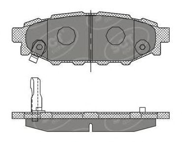 Колодки тормозные SCT SP395PR