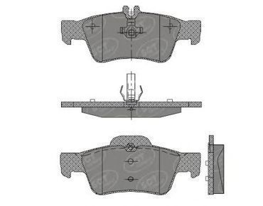 Колодки тормозные SCT SP404PR