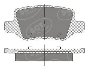Колодки тормозные SCT SP410PR
