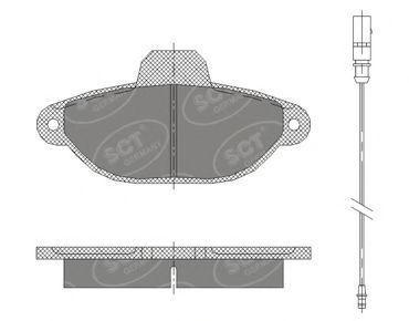 Колодки тормозные SCT SP414PR