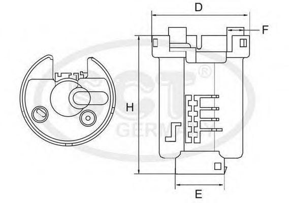 Фильтр топливный SCT ST6503
