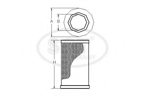Воздушный фильтр SCT SB2969