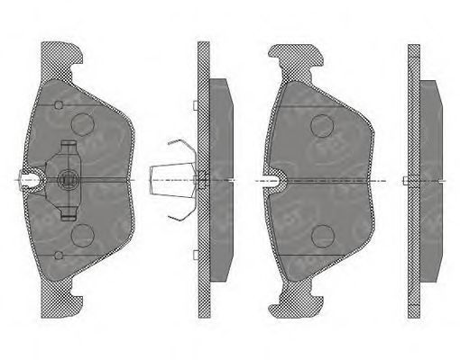 Колодки тормозные SCT SP427PR