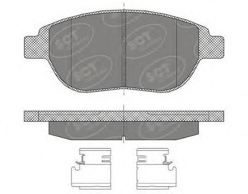 Колодки тормозные SCT SP435PR