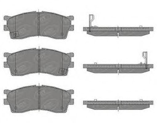 Колодки тормозные SCT SP441PR