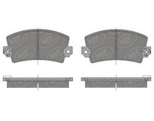 Комплект тормозных колодок, дисковый тормоз SCT SP485PR