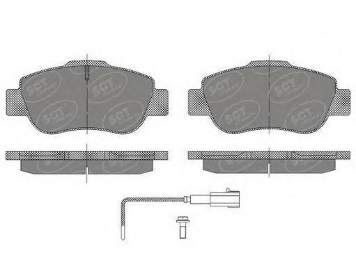 Колодки тормозные SCT SP487PR