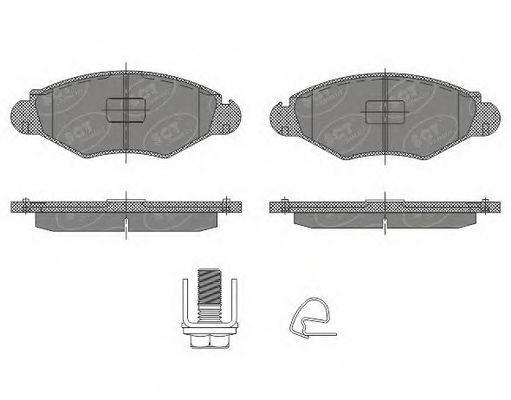 Колодки тормозные SCT SP489PR