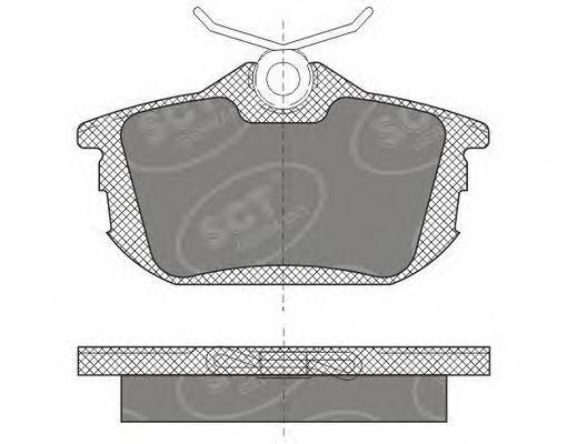 Колодки тормозные SCT SP608PR
