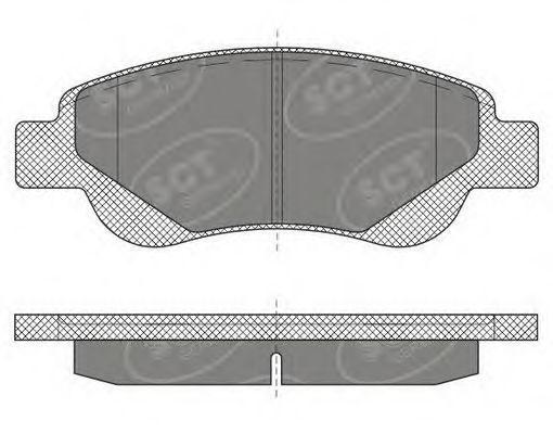 Колодки тормозные ProfiLine SCT SP 609 PR