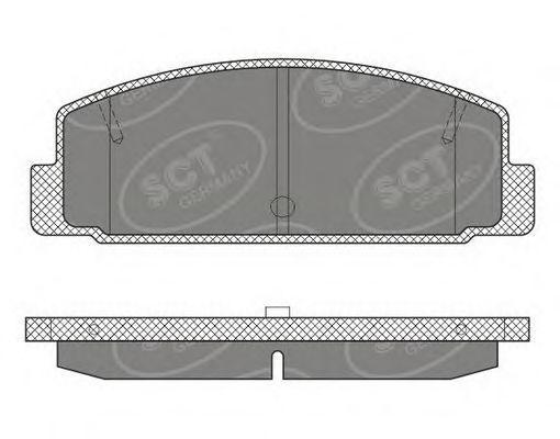 Колодки тормозные SCT SP611PR