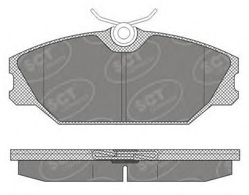 Колодки тормозные SCT SP613PR